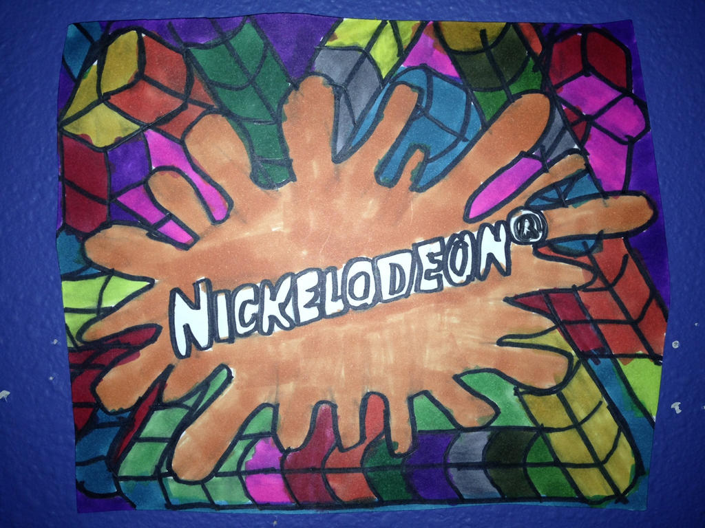 Nickelodeon Logo Art Design Drawing by NWeezyBlueStars23