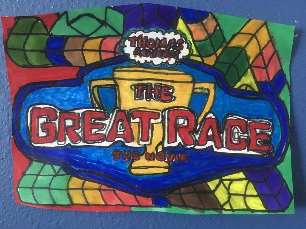 Thomas Friends The Great Race Movie Logo Art Draw By