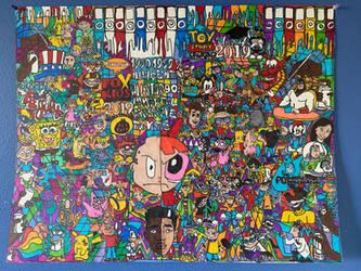 NificentAllStars90sCartoonImmortalCOPT3ArtDrawing by NWeezyBlueStars23