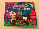 Charlie Brown Thanksgiving Art Colorful DesignDraw
