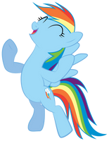 Rainbow Dash Victory by Omniferious