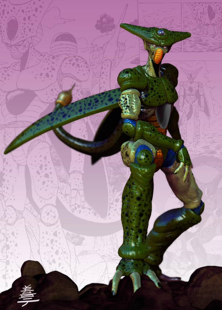 Dragon ball Z Cell imperfect (normal) form by Veus-T on ...