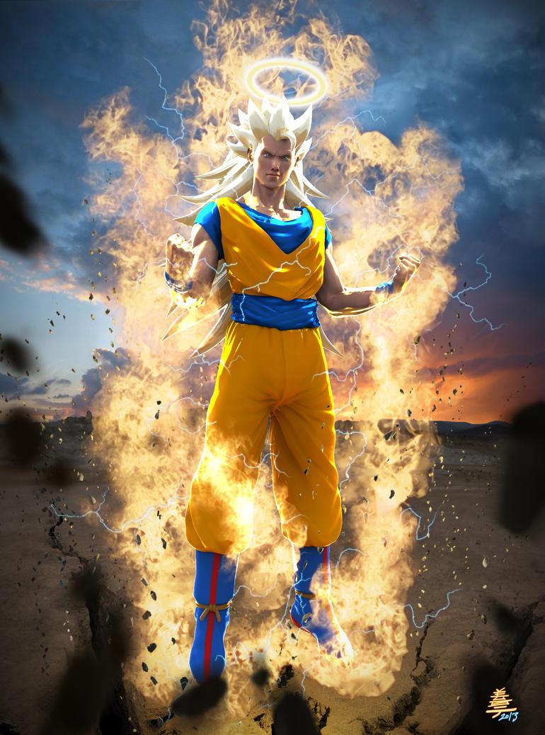 Dragon ball Z Songoku Super Sayan 3 by Veus-T