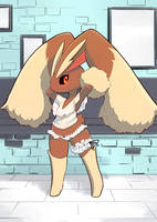 Lopunny in Lingerie by unousaya