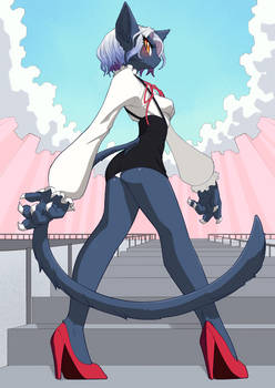 Russian Blue Cat Girl