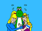 yoshi and the girls