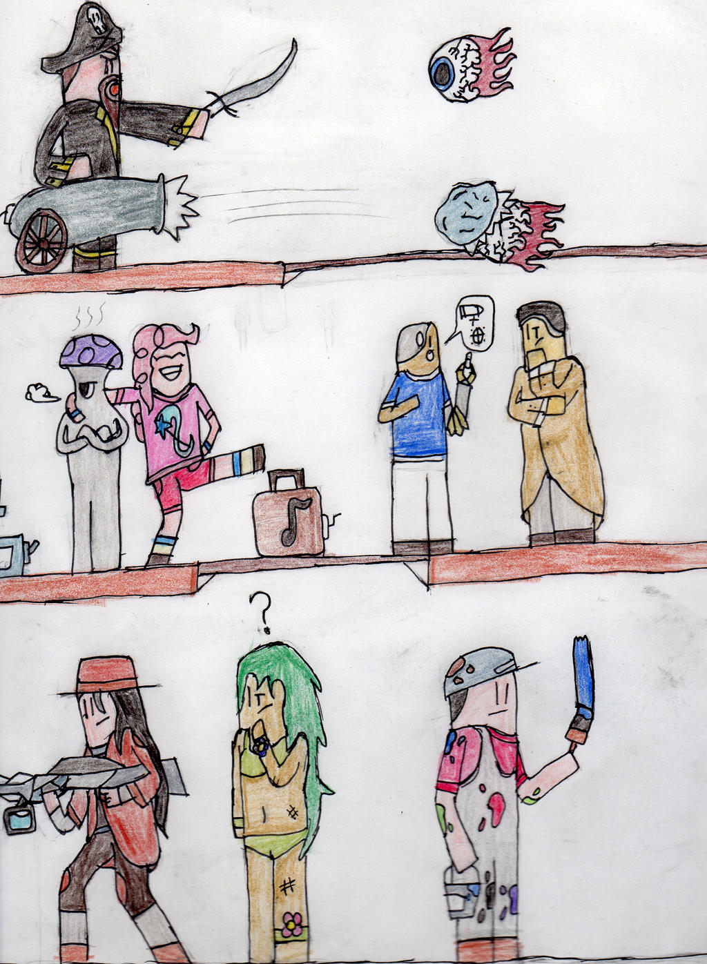 Terraria: The Daily Life Of An NPC 1.2 By Glitch-Sketch On