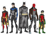 bat family young justice style.