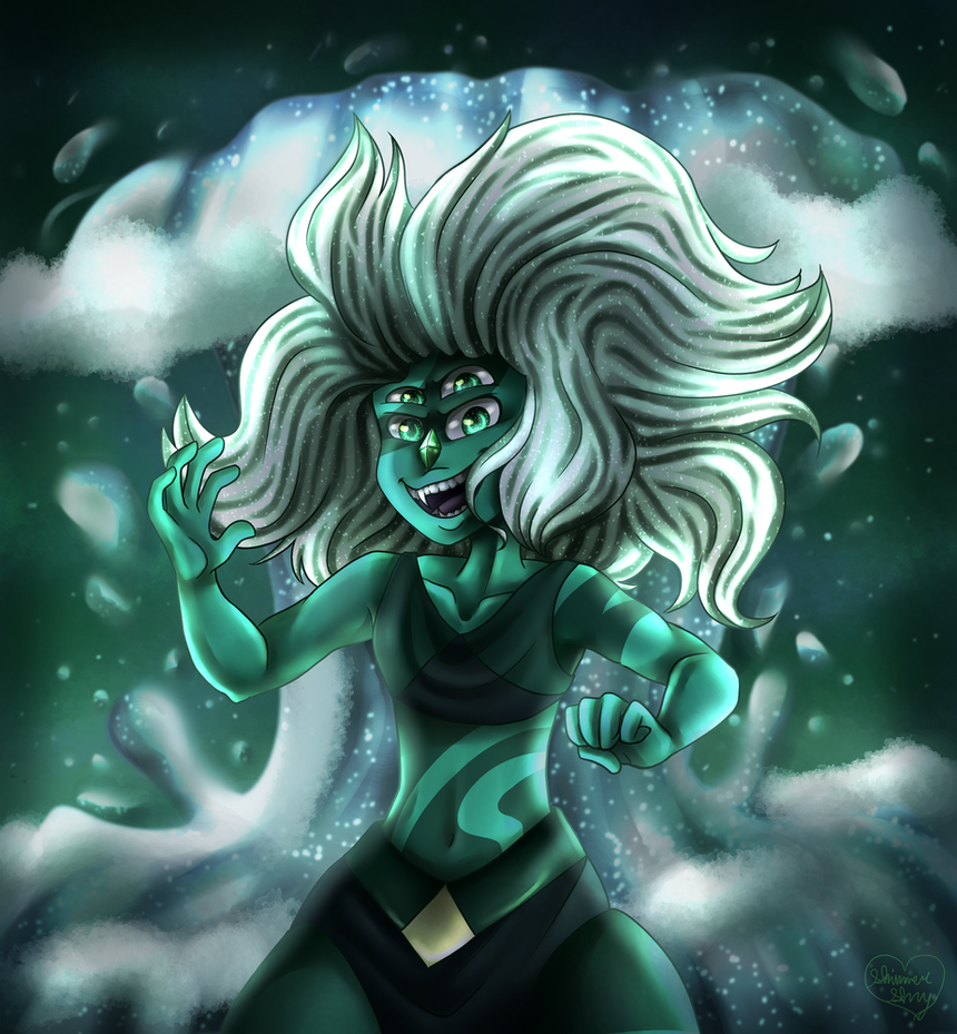 Ok, wow, I can NOT draw water. That background was pain itself. :,) ANYway, I drew this for the Month of Malachite on Steven Universe Amino, but I also drew it because I've really wanted to draw Ma...