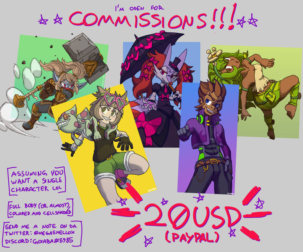 Commissions Template by GoiabaMX