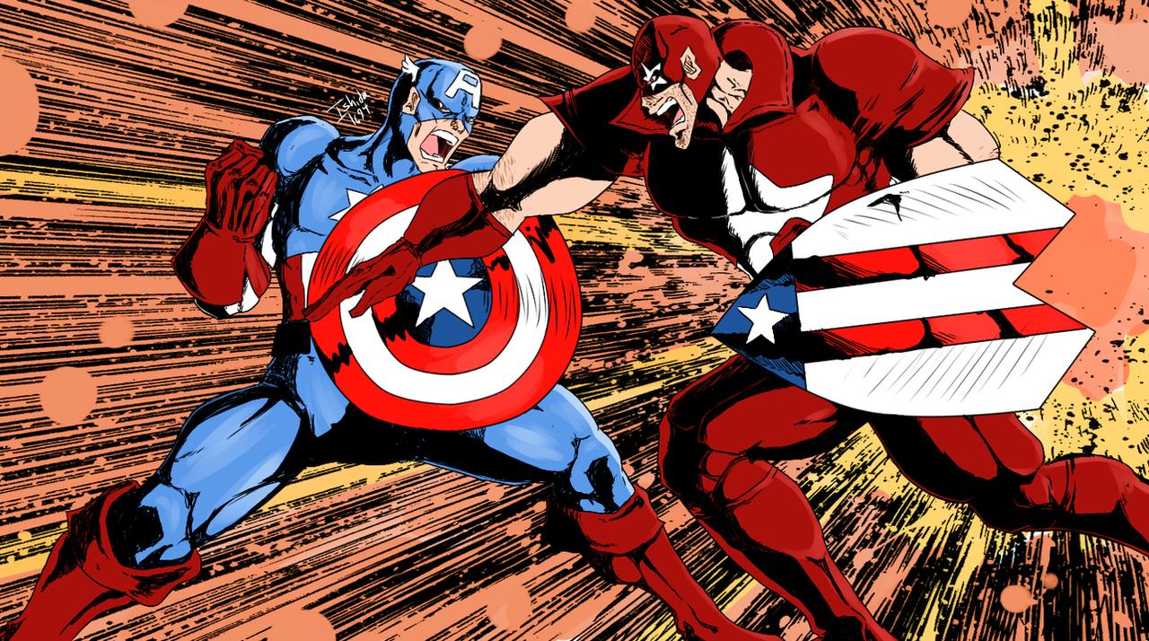 Captain America vs Protocide by Ishida1694