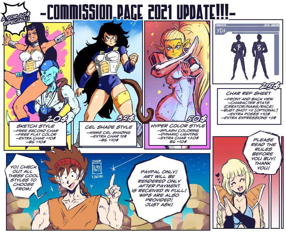 NEW COMMISSION PAGE UPATE! 2021!