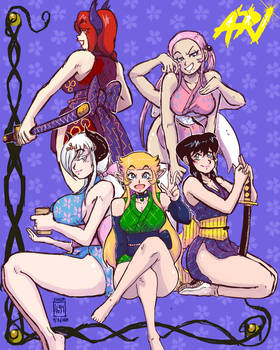 Short Kimono Girls