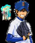 Eijun Sawamura (Diamond no ace) Renders