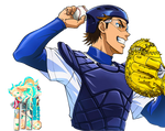 Kazuya Miyuki (Diamond no ace) Renders