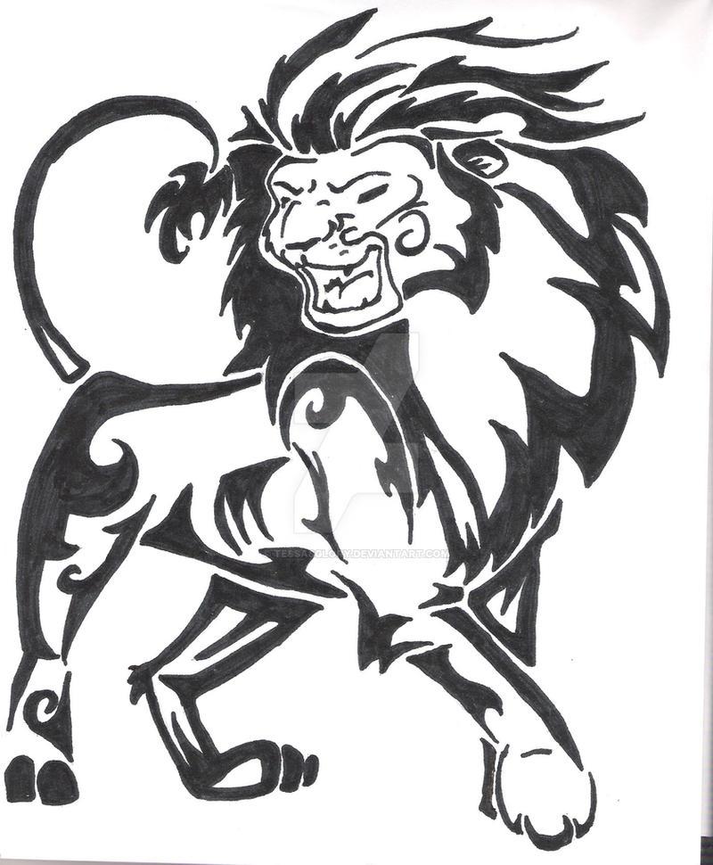 Tribal Lion Tattoo By Tessasglory On Deviantart