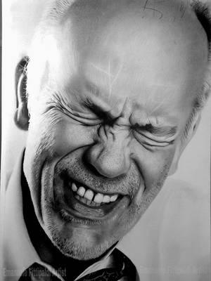 John Malkovich hyperrealist drawing