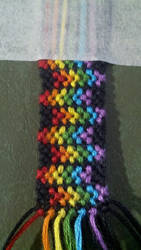 Rainbow bracelet by SammieySqueakers