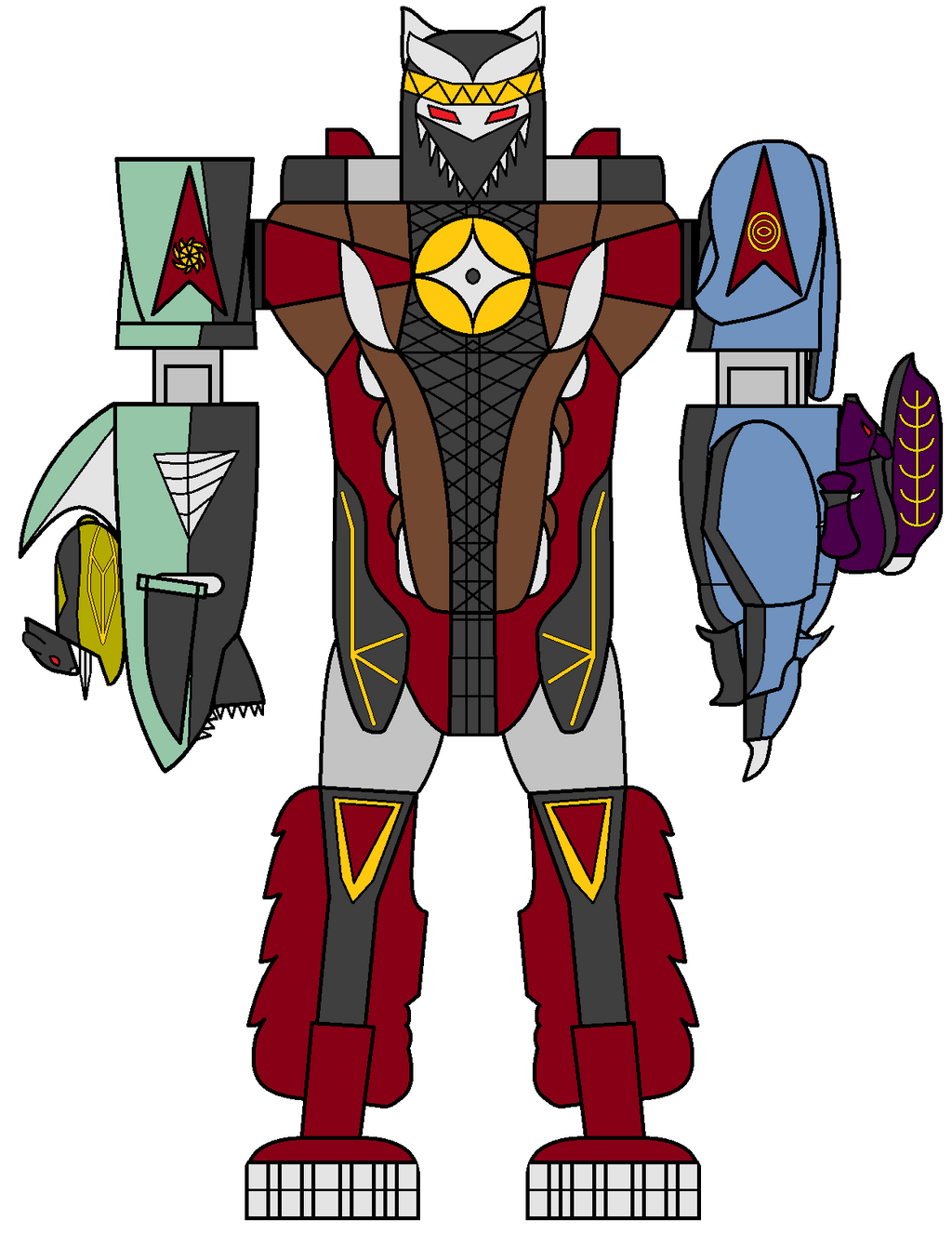Shinobi Megazord by hypersamus on DeviantArt
