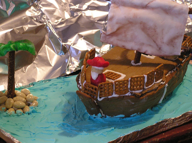 Gingerbread Pirate Ship by celacia