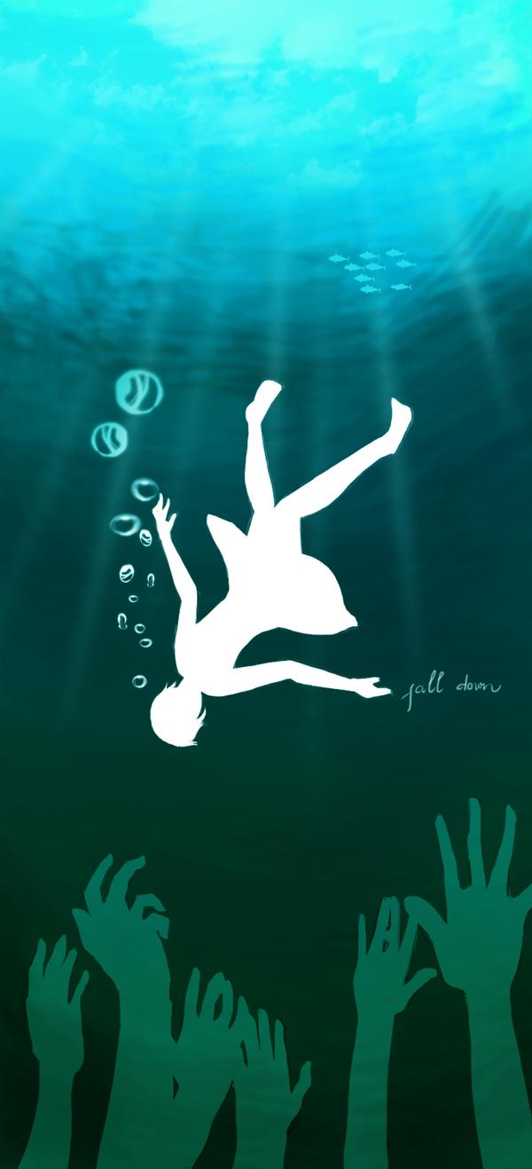 Fall down : Blue by AiTranHo