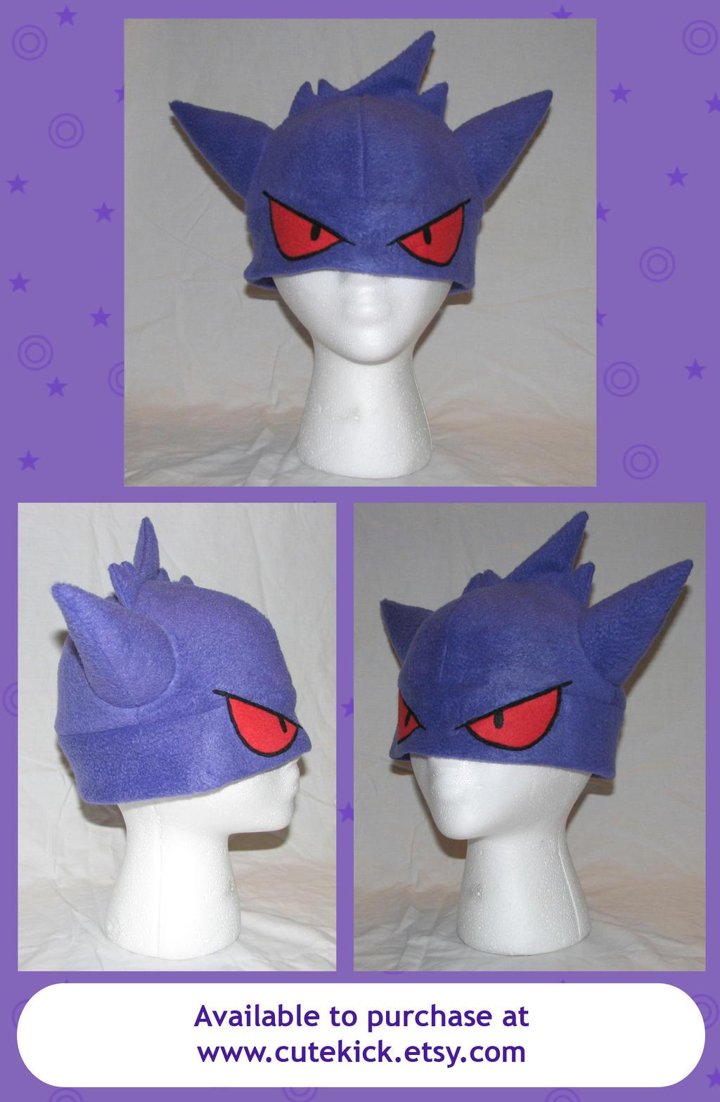 Gengar Pokemon Hat with eyes by cutekick