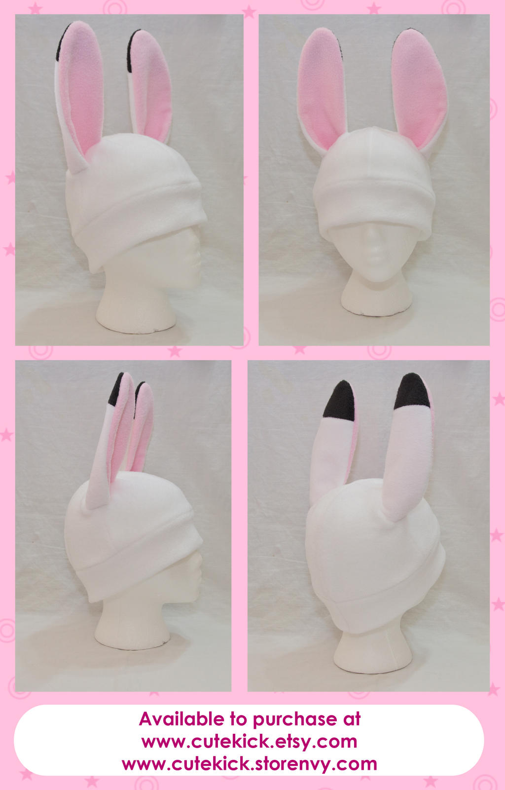 White Bunny Rabbit Hat by cutekick