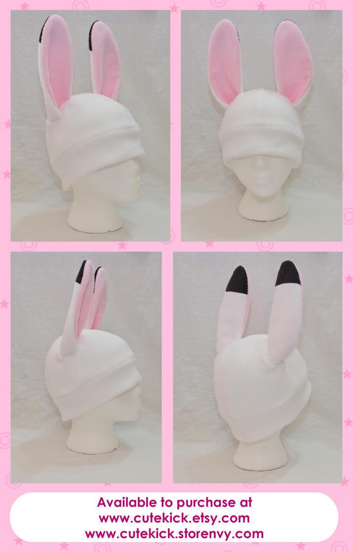 White Bunny Rabbit Hat by cutekick