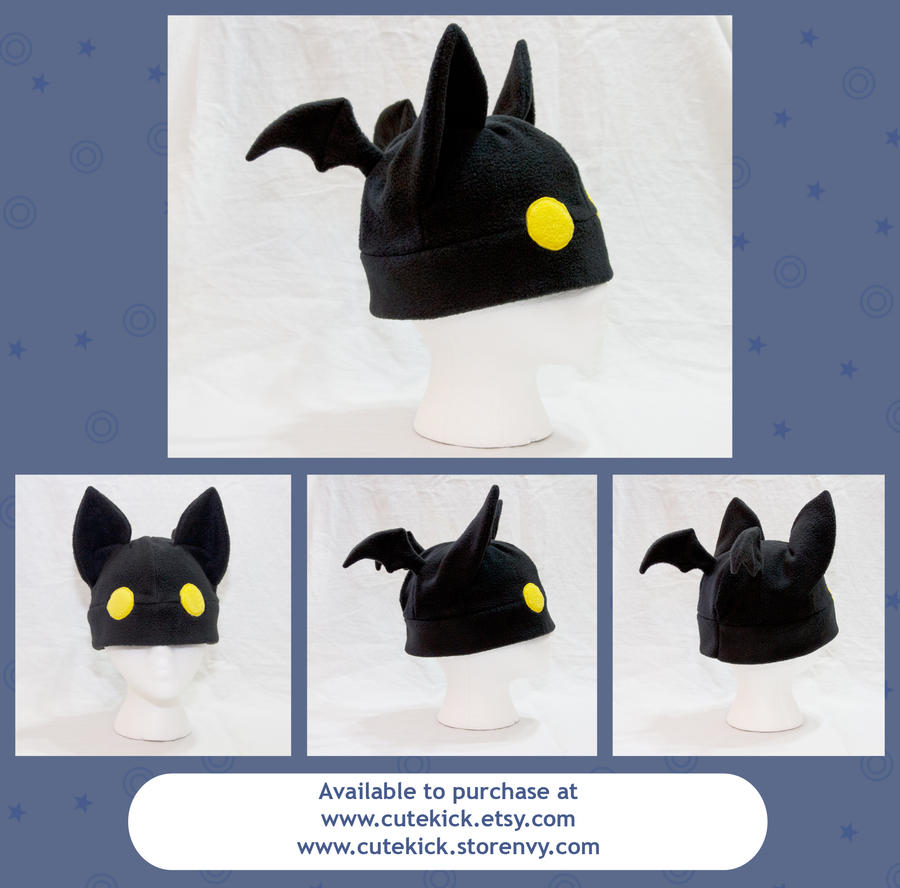 Bat Hat with Eyes by cutekick