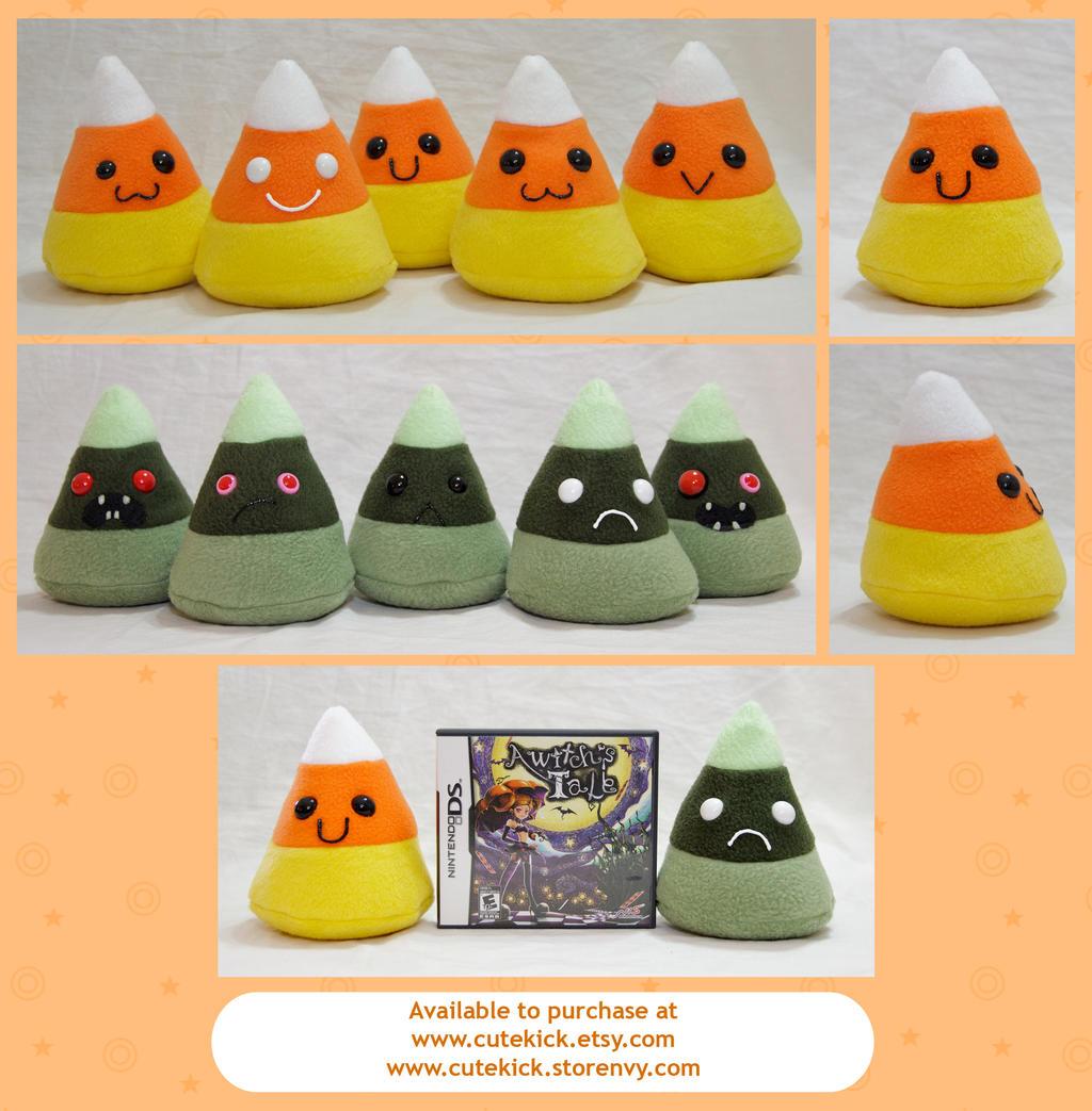 Candy Corn Plushies by cutekick