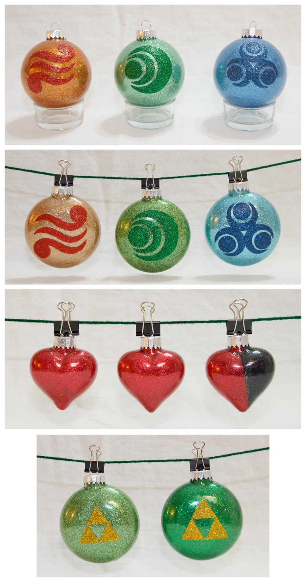 Zelda Ornaments by cutekick