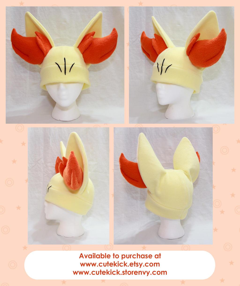Fennekin Hat Pokemon Hat Simple by cutekick