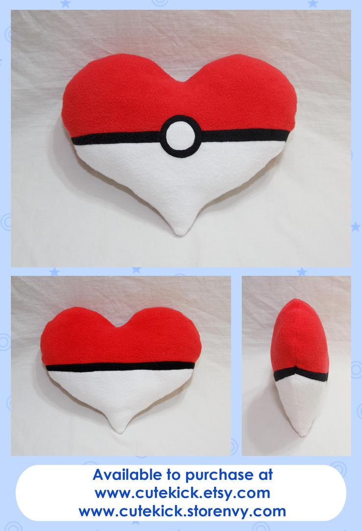 Pokeheart Pillow by cutekick