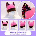 Pink Brown Spotted Cat Hat