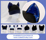 Silver Glitter Planets Space Cat Hat
