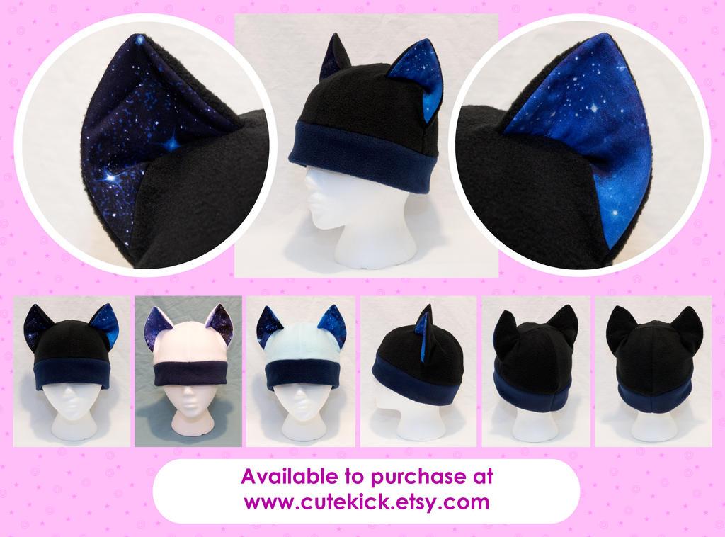 Deep Space Galaxy Cat Hat by cutekick