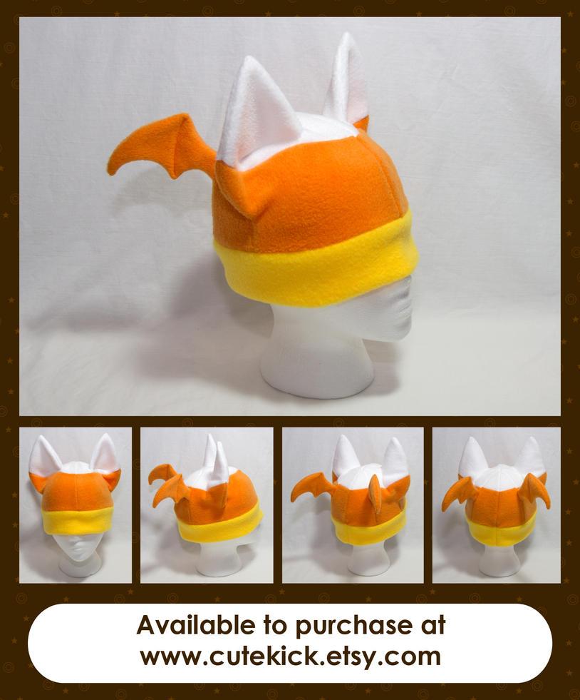 Candy Corn Bat Hat by cutekick