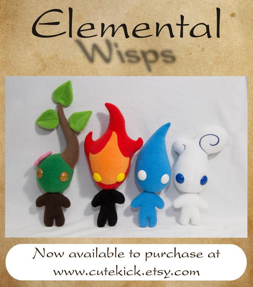 Elemental Wisps by cutekick