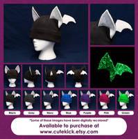 Glow in the Dark Bat Hat by cutekick