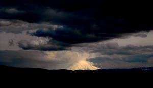 Stormy Mount Saint Helens