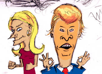 Kelly Anne (Beavis) and Donald Trump (Butthead) by Tarraccas