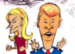 Kelly Anne (Beavis) and Donald Trump (Butthead)