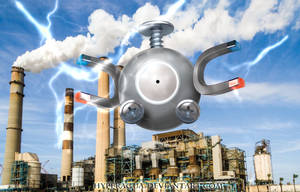 No 81 A Wild Magnemite by Hyperagua