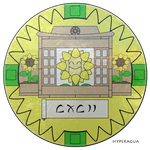 192 Sunflora Medallion by Hyperagua