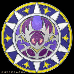 Stained Glass Lunala by Hyperagua