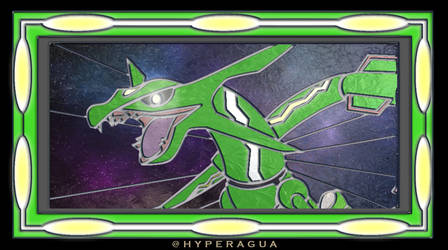 Stained Glass Rayquaza by Hyperagua