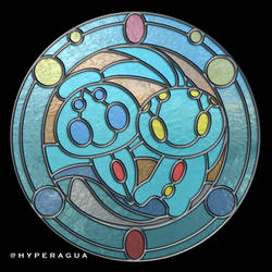 Phione and Manaphy Virtual Stained Glass by Hyperagua