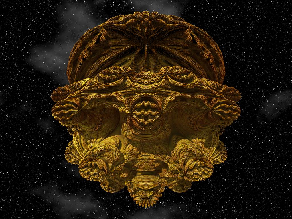 gold encrusted mandelbulb by gibson125 on deviantart