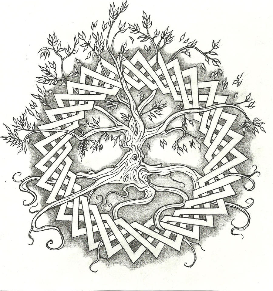 celtic tree of life by vizualassassin on deviantart. Black Bedroom Furniture Sets. Home Design Ideas