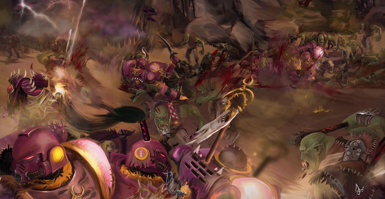 emperor_s_children_vs_orcs_by_slaanesh_g